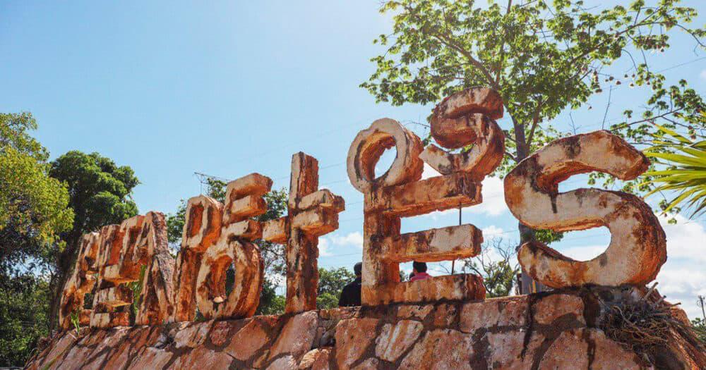 Ruta de los Cenotes Puerto Morelos - Letrero de la Ruta