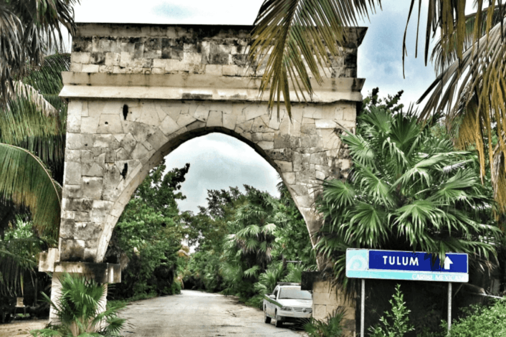 Sian Ka'an Quintana Roo - El arco de la entrada