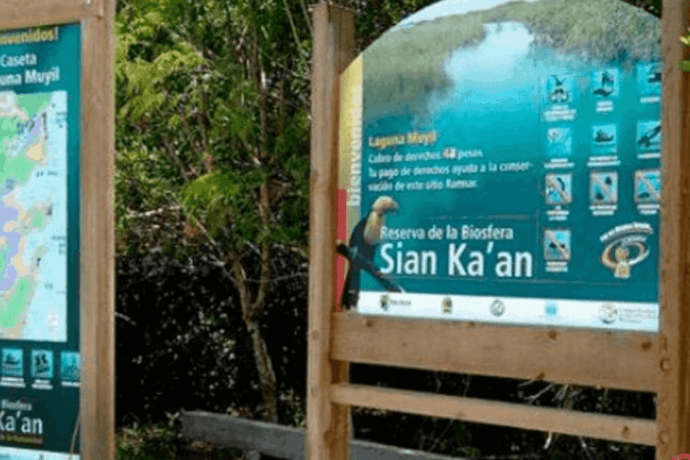 Sian Ka'an Quintana Roo - El área de visitantes