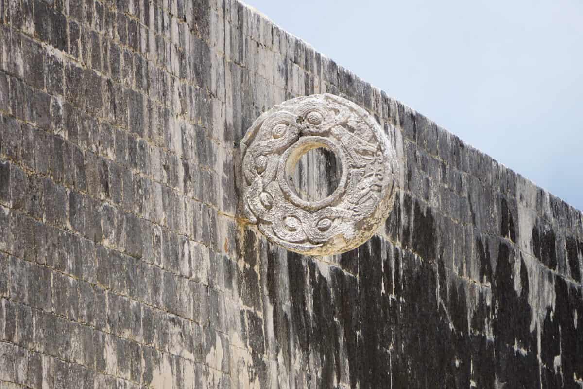 Chichén Itzá Juego de pelota - Detalles de Aro del juego de pelota