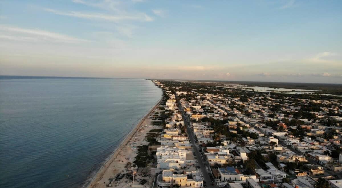 Puerto Progreso Yucatán - vista aérea
