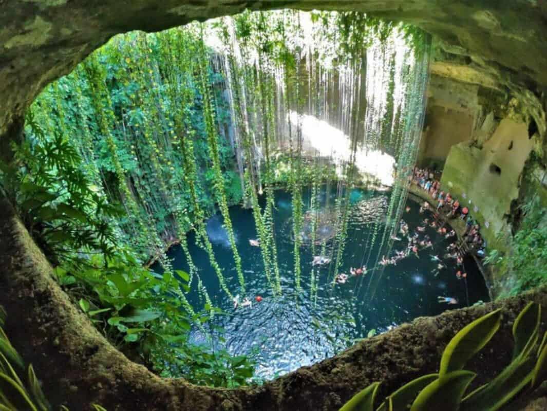 Qué es un cenote - Cenote semiabierto