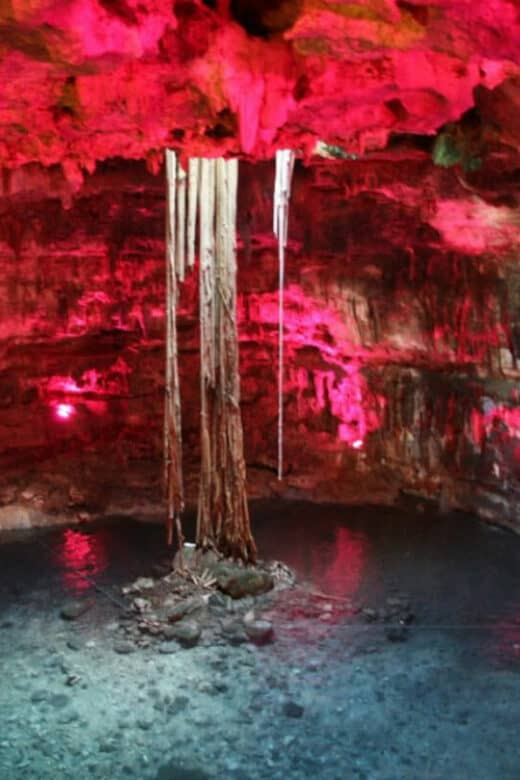 Cenote Samulá - Iluminación