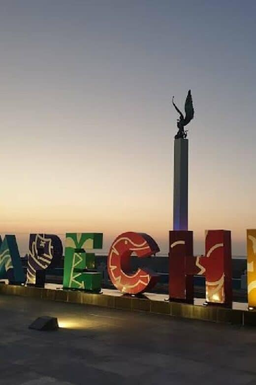 Qué hacer en Campeche - Letrero de colores