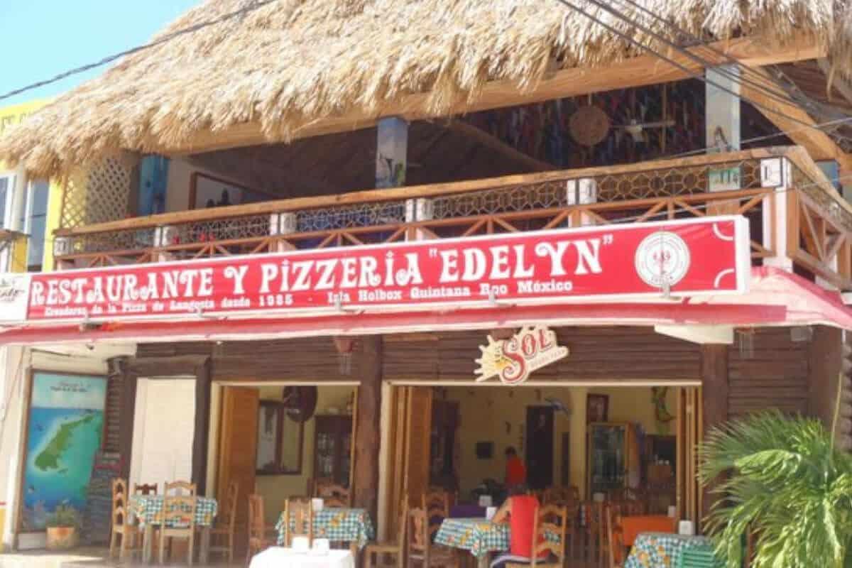 Dónde comer en Holbox - Pizzería Edelyn