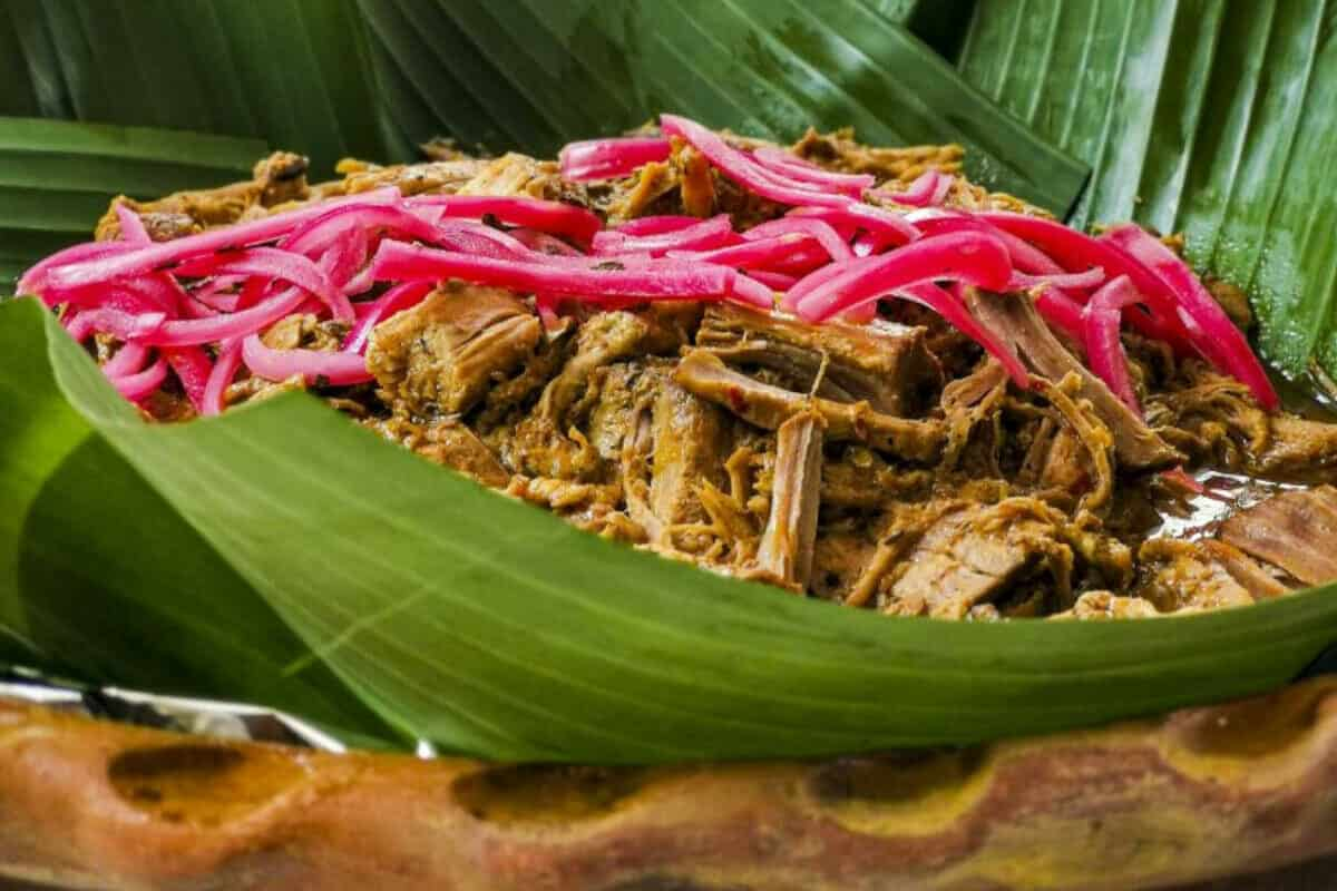 Gastronomía de los Mayas - La Cochinita o Cerdo Pibil