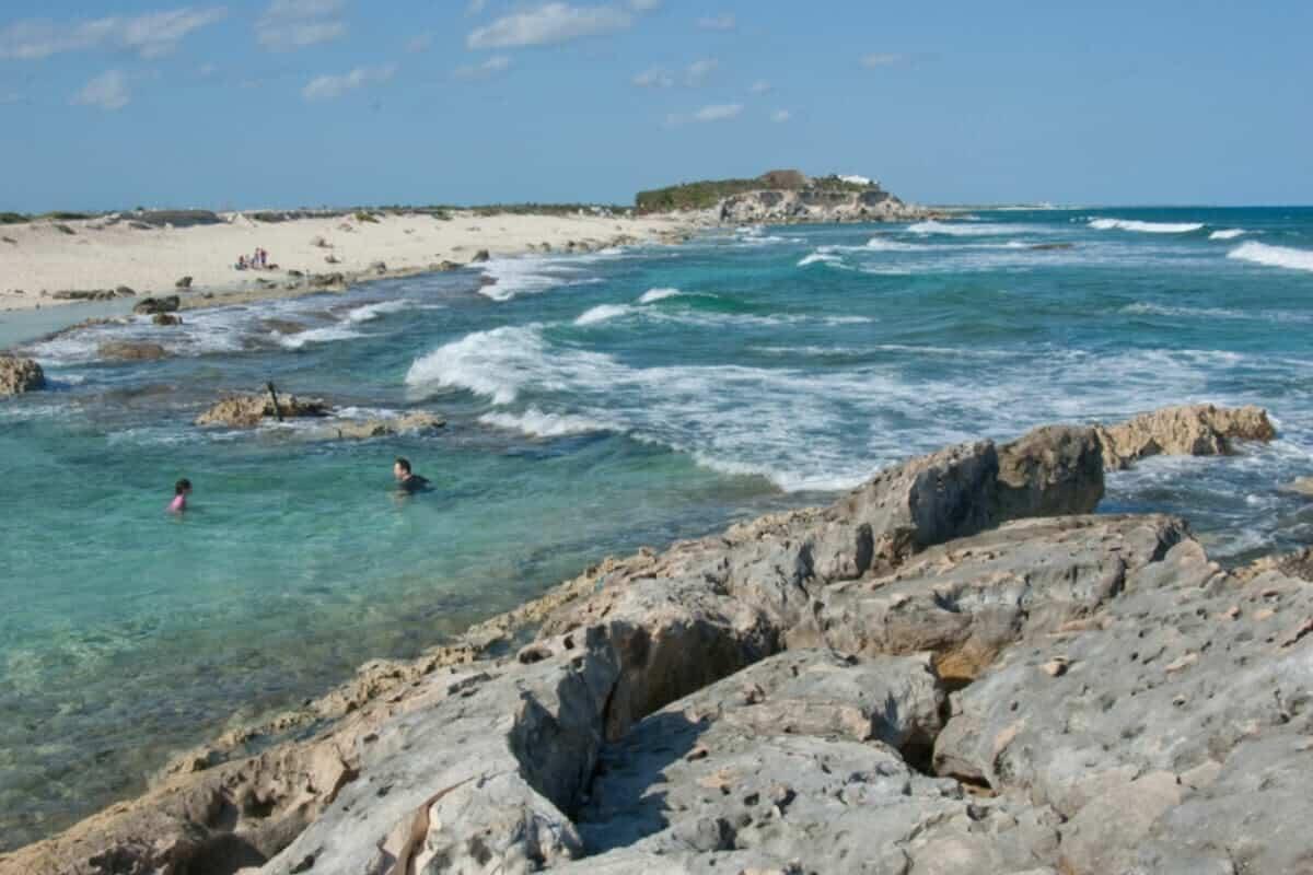 Playas públicas en Cozumel - Playa Chen Río