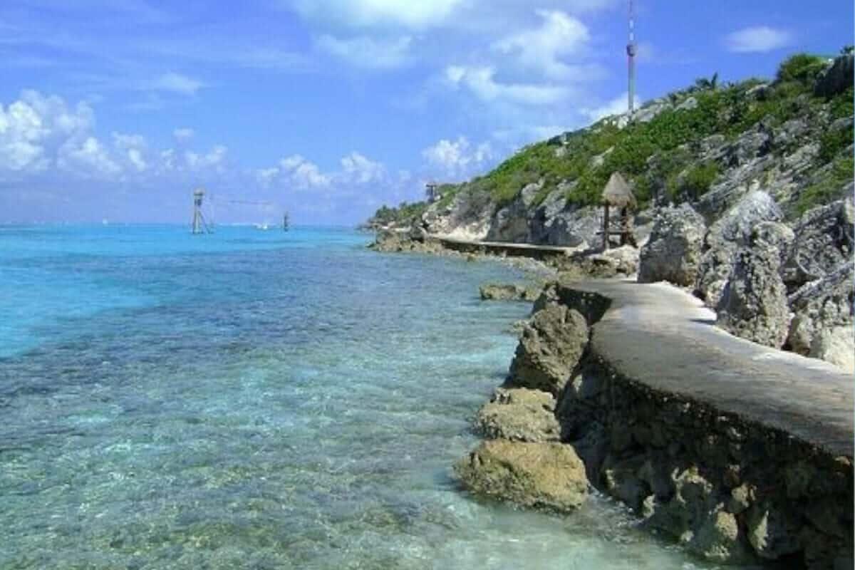 Playas públicas en Cozumel - Playa Encantada