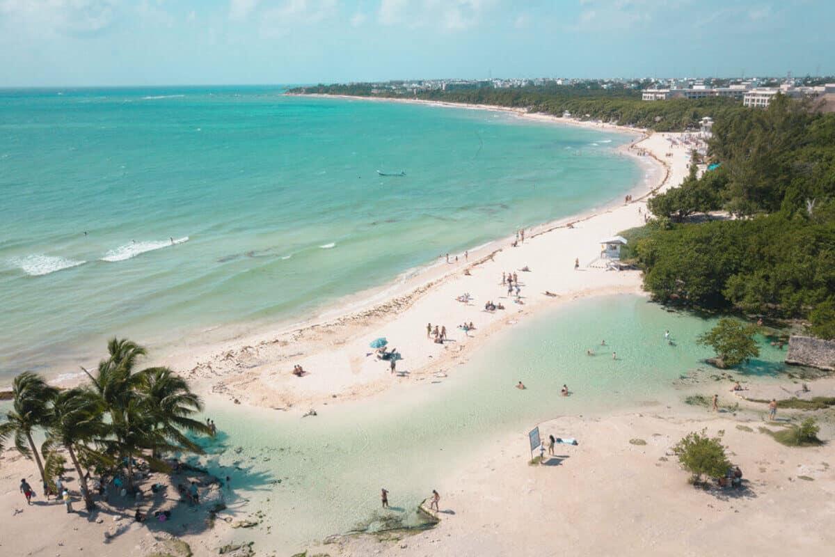 Playas públicas en Playa del Carmen - Playa Punta Esmeralda