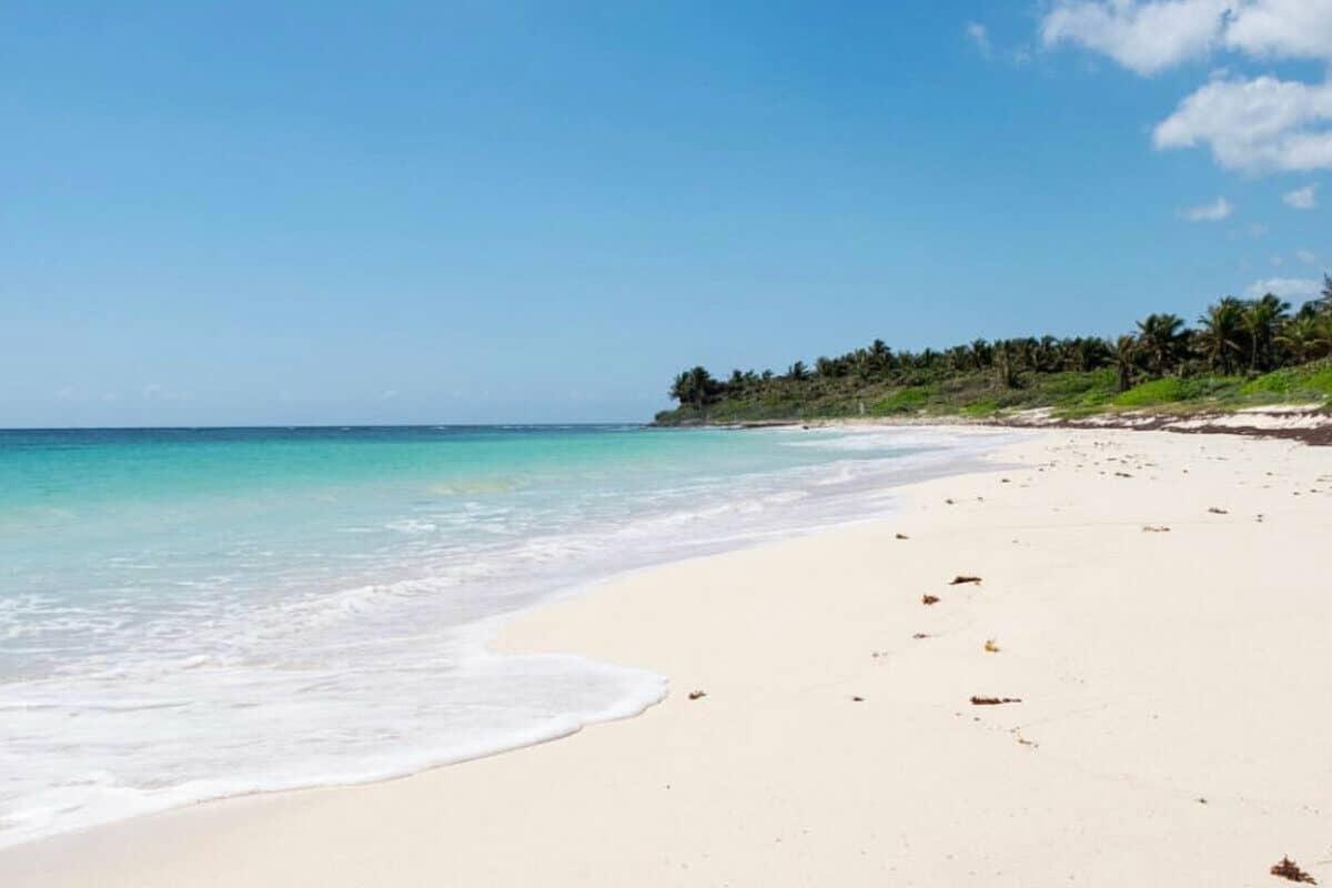 Playas públicas en Tulum - Playa Xcacel